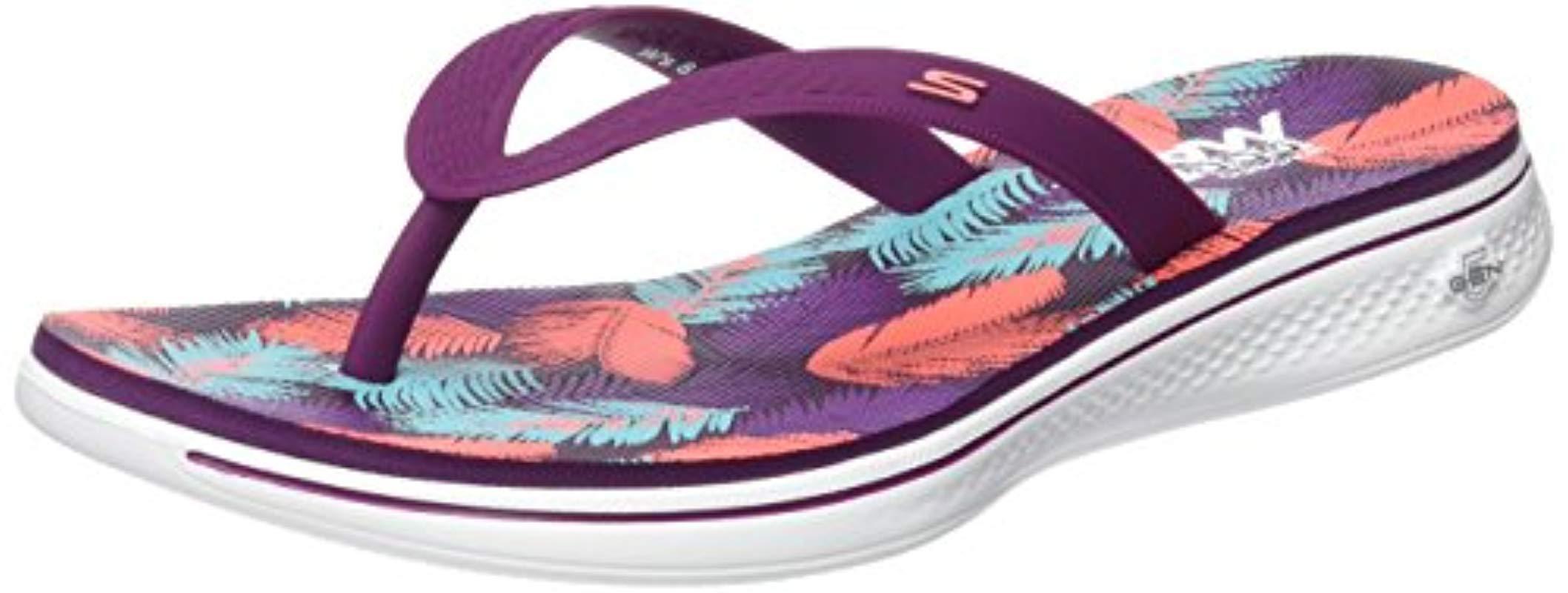 11782bf2a97f Skechers H2 Goga-lagoon Flip Flops in Purple - Lyst