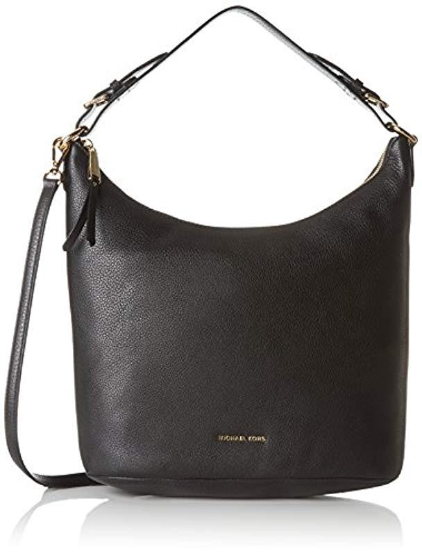 Michael Kors Lupita Shoulder Bag in Black - Lyst 67c75f05ff