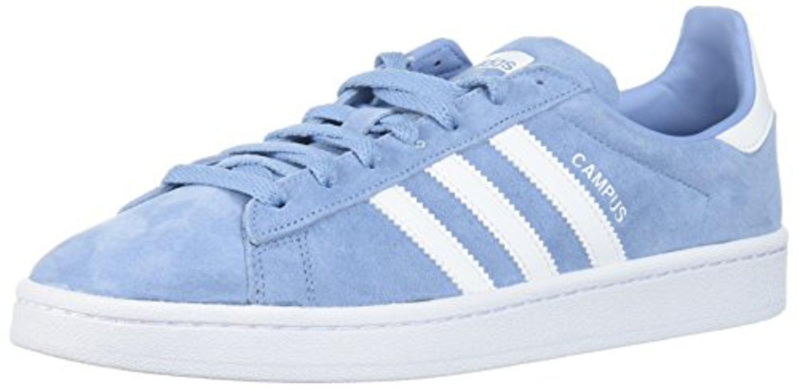 lyst adidas campus ash blue & running scarpe bianche, blu per gli uomini.