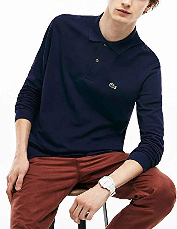 b30c9025e167e Lyst - Lacoste Long Sleeve Classic Pique L.12.12 Original Fit Polo ...