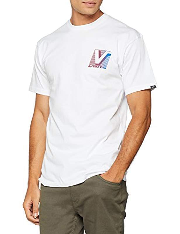 61548ebc22ba9c Vans Grand Ss T-shirt in White for Men - Lyst