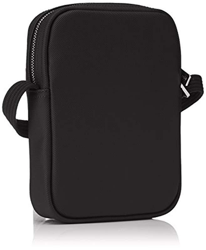 6de2df0f6a9707 Lacoste Sac Homme Access Premium Shoulder Bag in Black for Men - Lyst