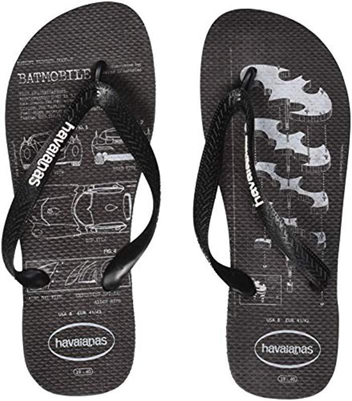 ea60dcbd9dcb Havaianas - Black Batman Flip Flops for Men - Lyst. View fullscreen