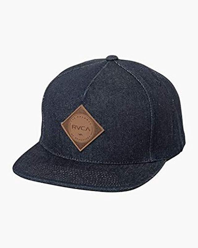 0dec3a4fbda64 Lyst - RVCA Camps Snapback Hat in Blue for Men