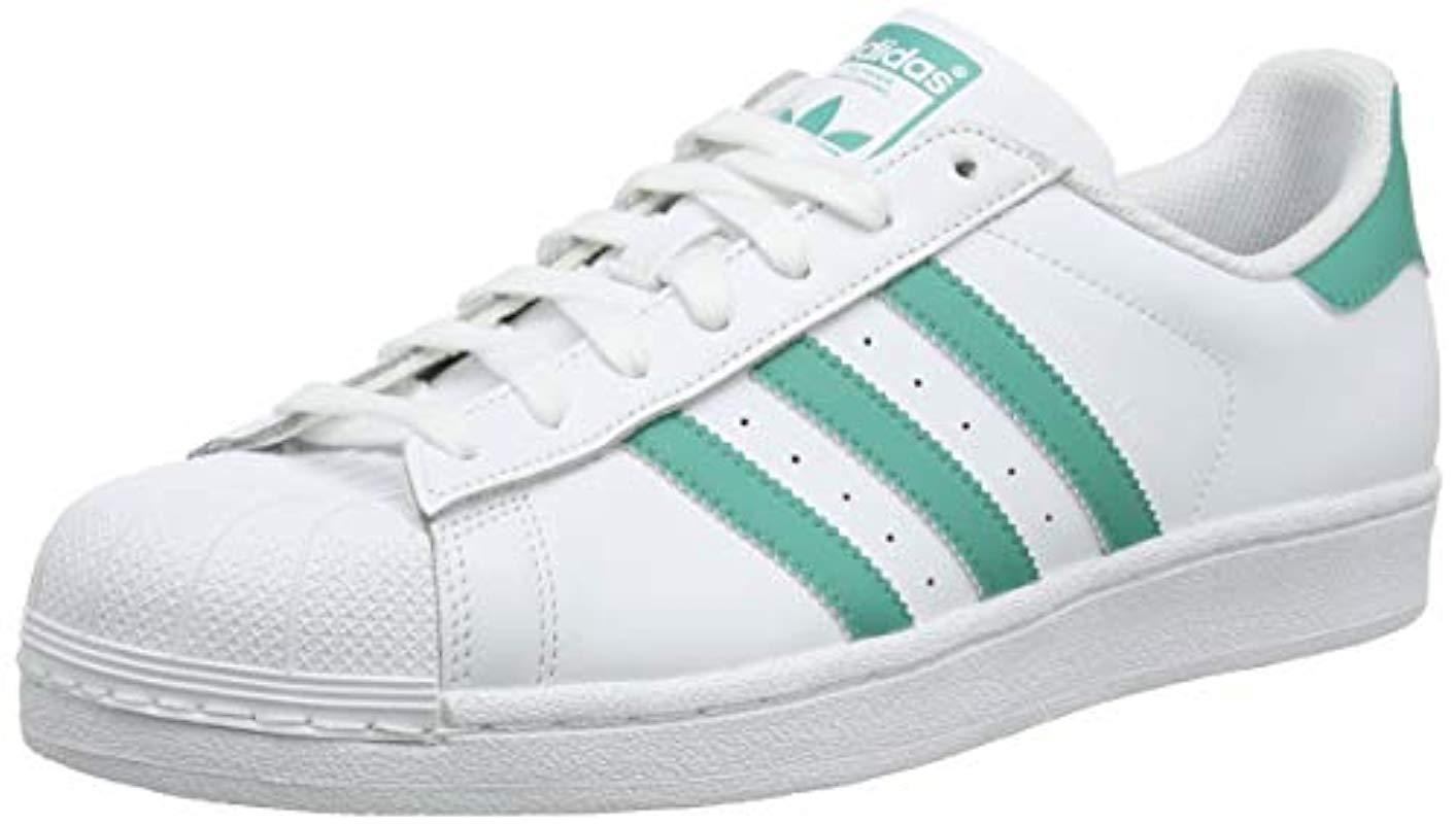 f37be829db6df adidas Superstar Trainers in White for Men - Lyst