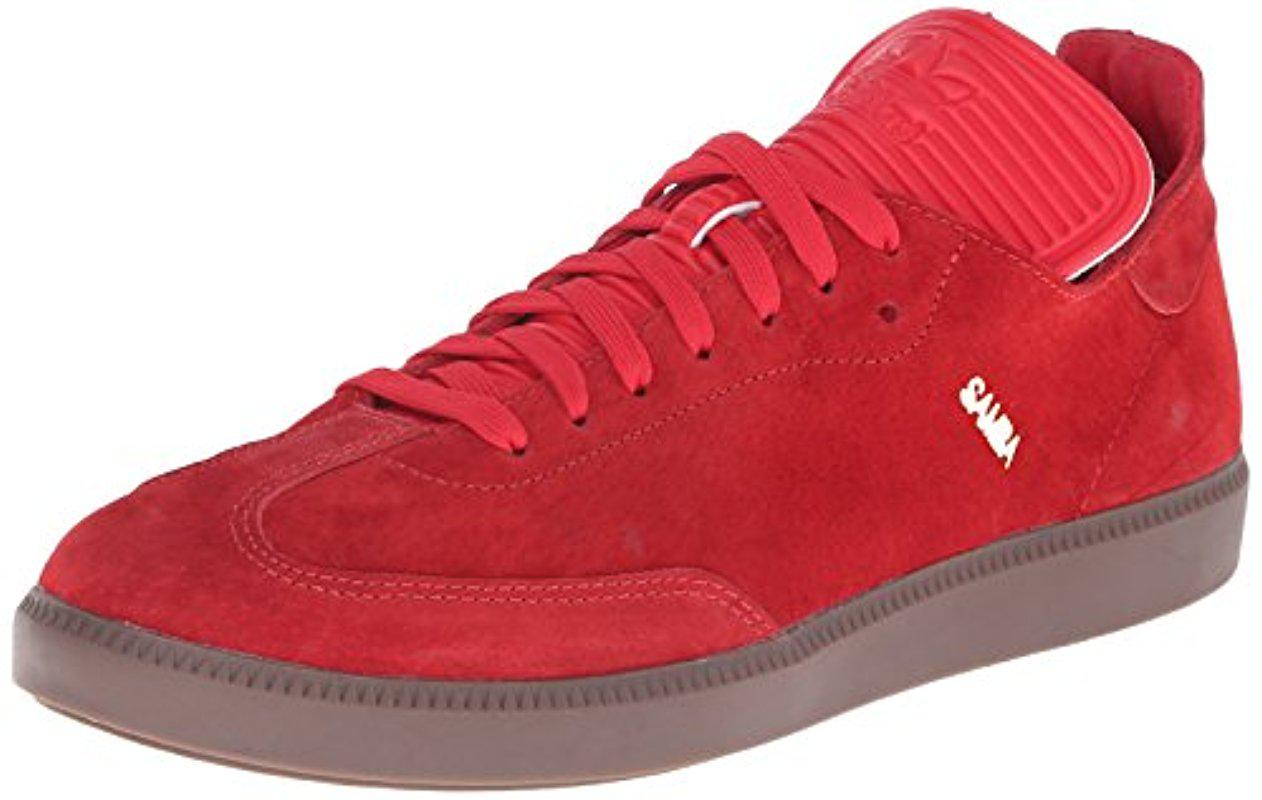 lyst adidas samba mc lthr scarpa performance in rosso