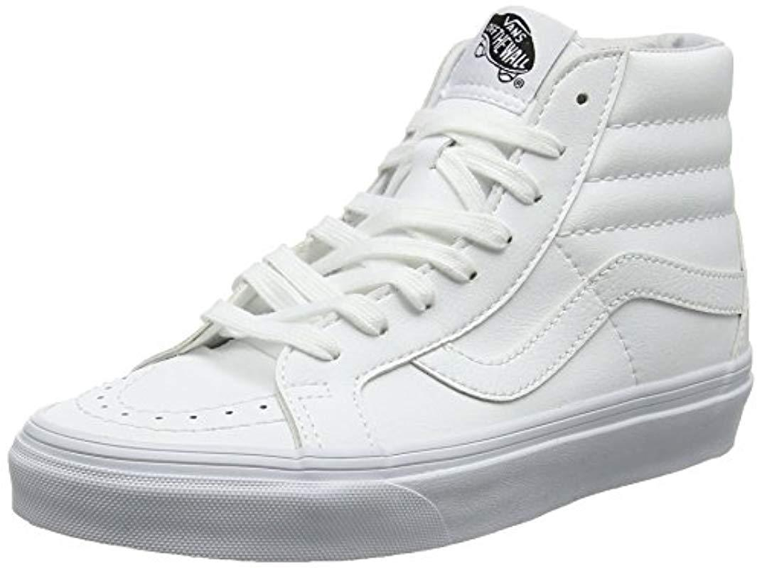 Vans Unisex Adults  Sk8-hi Reissue Trainers in White for Men - Save ... 9f35059e1
