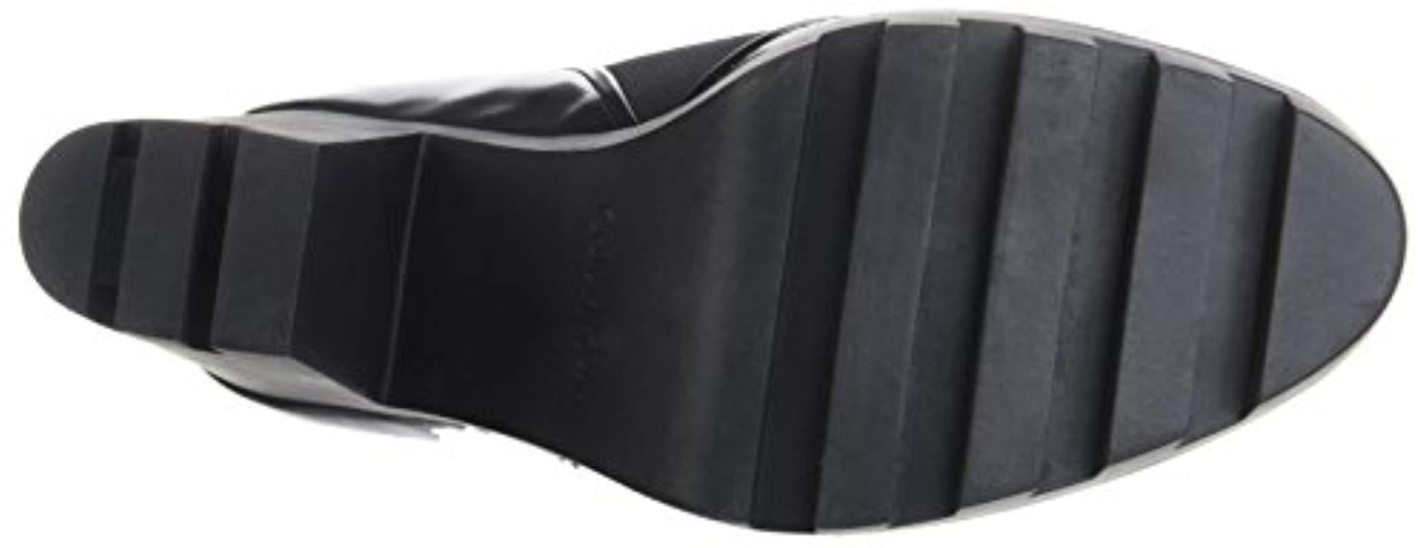f784bd1b159e5 Calvin Klein - Black Sibyl Neoprene box Smooth Boots - Lyst. View fullscreen