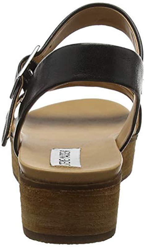 ba5de18ae55 Steve Madden - Black Aida Ankle Strap Sandals - Lyst. View fullscreen