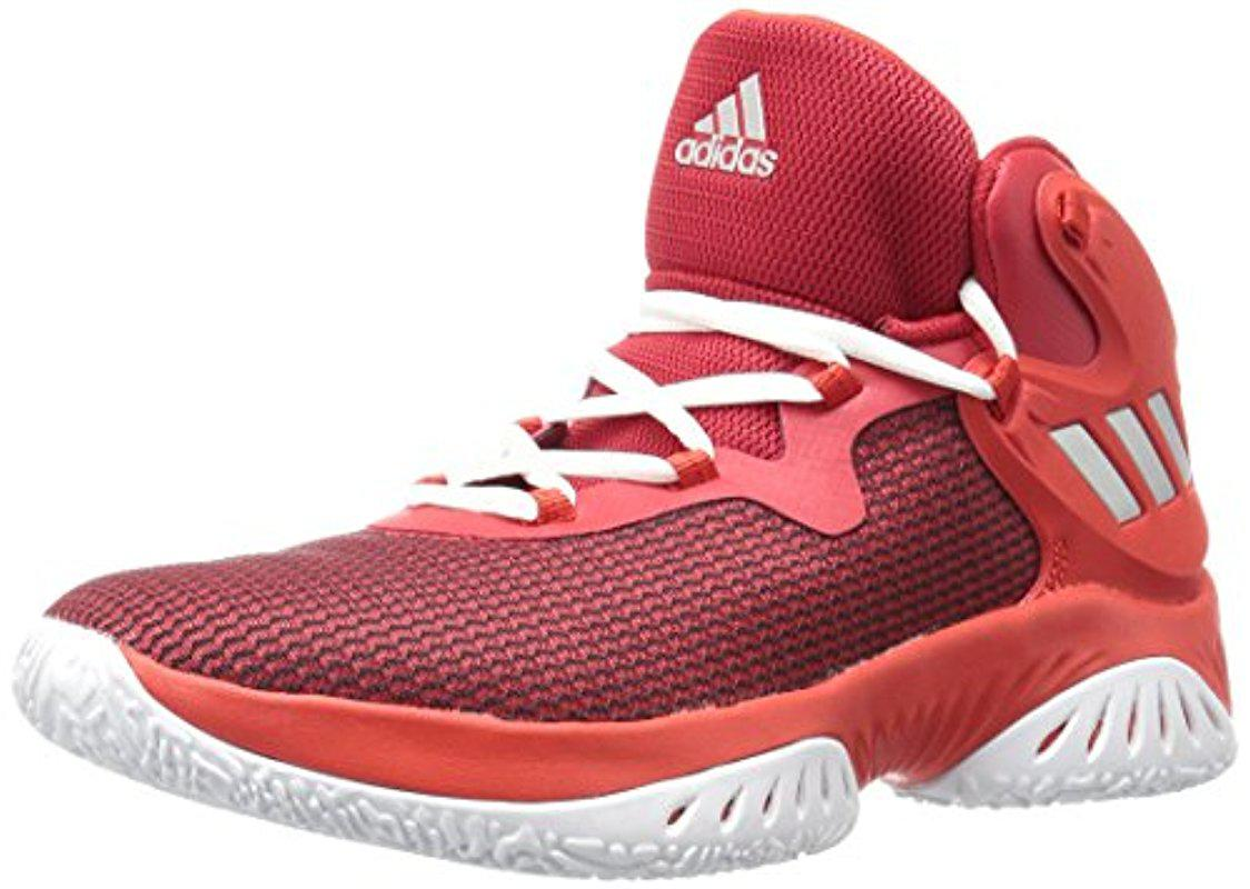 san francisco 8dc21 d38e4 Lyst - adidas Kids Explosive Bounce J Basketball Shoe in Red