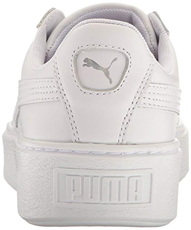 2c5d41909922 Lyst - PUMA Basket Platform Iridescent Field Hockey Shoe in White