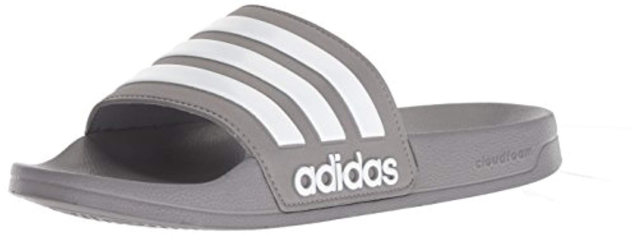 2821e40b8afc1 Lyst - adidas Originals Adilette Shower Slide Sandal in Gray for Men