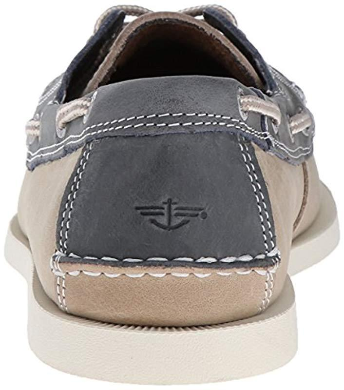 2943c6e9a5 Dockers - Blue Vargas Leather Handsewn Boat Shoe for Men - Lyst. View  fullscreen