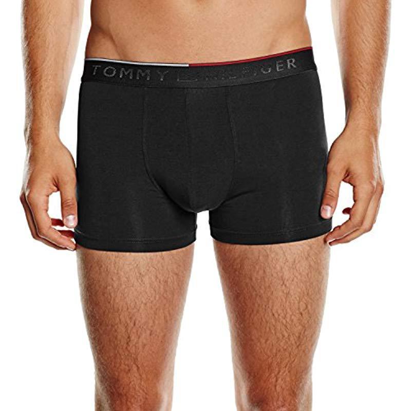 9324ac8de63f Tommy Hilfiger Premium Trunk Boy Short in Black for Men - Save 9% - Lyst