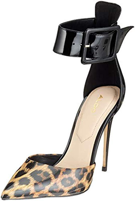 6280874096a9 ALDO  s Onaedia Ankle Strap Heels in Black - Lyst