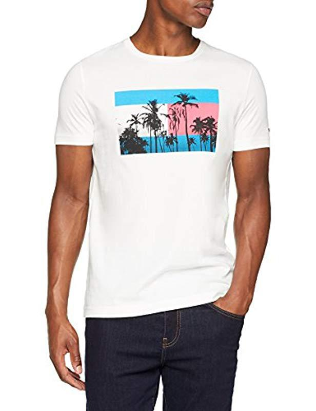 72625bb97ebc7 Tommy Hilfiger Flag Photo Print Tee T-shirt in White for Men - Save ...
