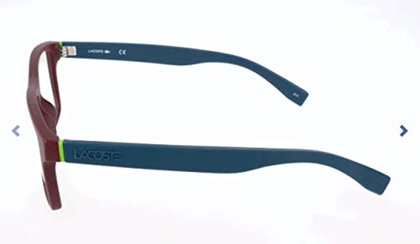 d474e5ab6 Lacoste Unisex's L2796 604 55 Optical Frames, Matte Burgundy - Lyst