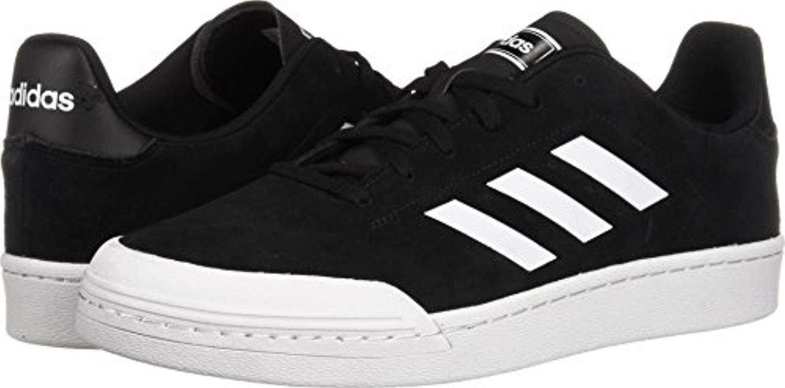 lyst scarpe adidas court70s in nero per gli uomini.