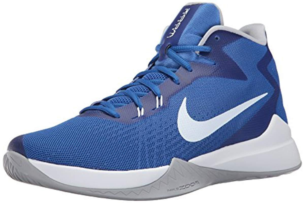 3a787b3d5877 Lyst - Nike Zoom Evidence Basketball Shoes in Blue for Men