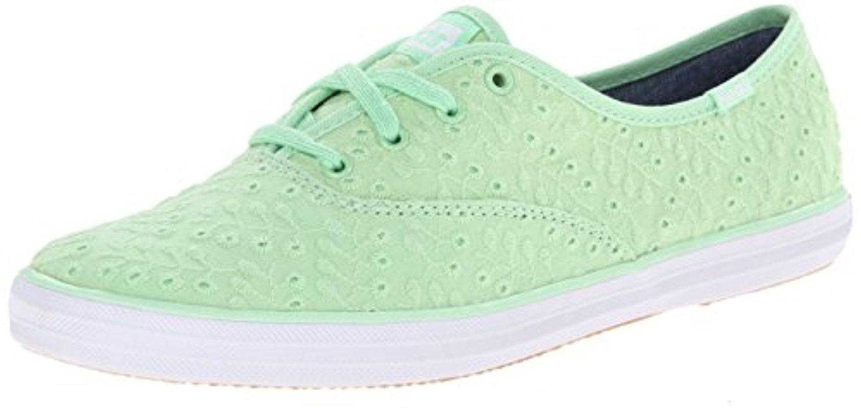 acd5f58bf4623a Lyst - Keds Champion Eyelet Fashion Sneaker wf52481 (6) in Green