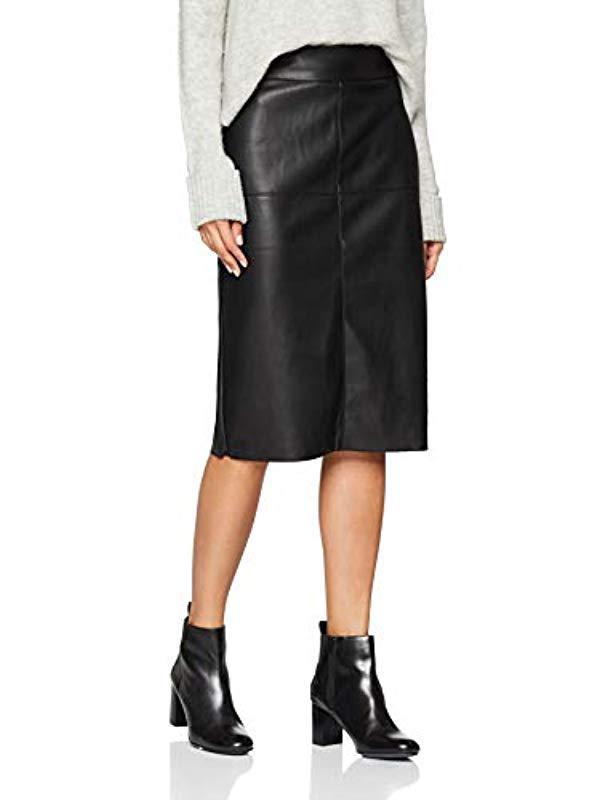 0d39b0600d Dorothy Perkins Pu Midi Skirt in Black - Lyst
