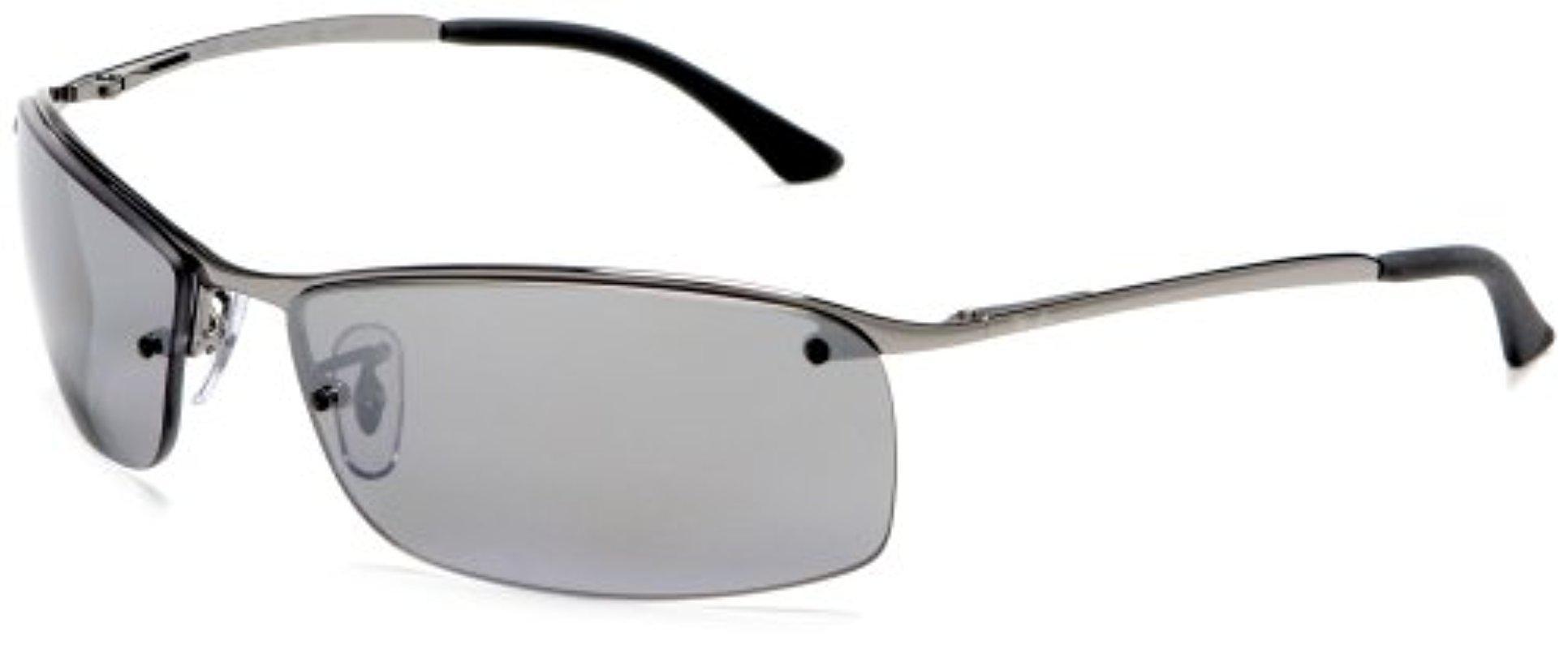f4043cdd4e5cb3 Ray-Ban Rb3183 - Gunmetal Frame Polar Grey Mirror Silver Grad ...
