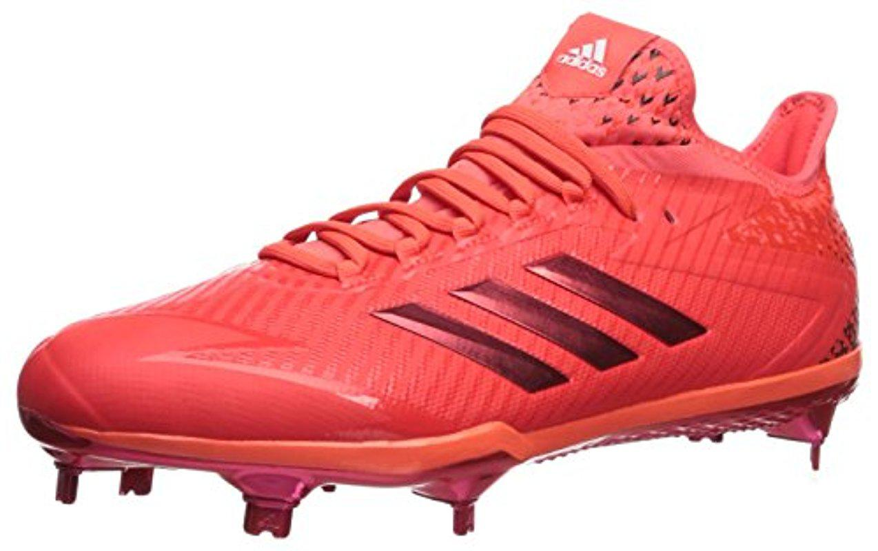 f435d092dc84 adidas Adizero Afterburner 4 Baseball Shoe in Red for Men - Lyst