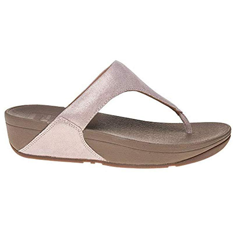 03e4315a829b Fitflop - Brown Shimmy Suede Toe-thong Sandals Flip-flop - Lyst. View  fullscreen