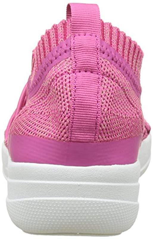 6edb3d730 Fitflop Uberknit Slip-on Ghillie Sneakers Slip On Trainers in Pink ...