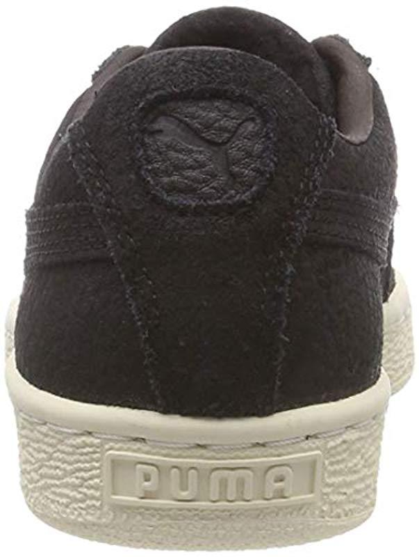 34f2297f02e PUMA Unisex Adults  Suede Classic Shearling Low-top Sneakers in Black for  Men - Lyst