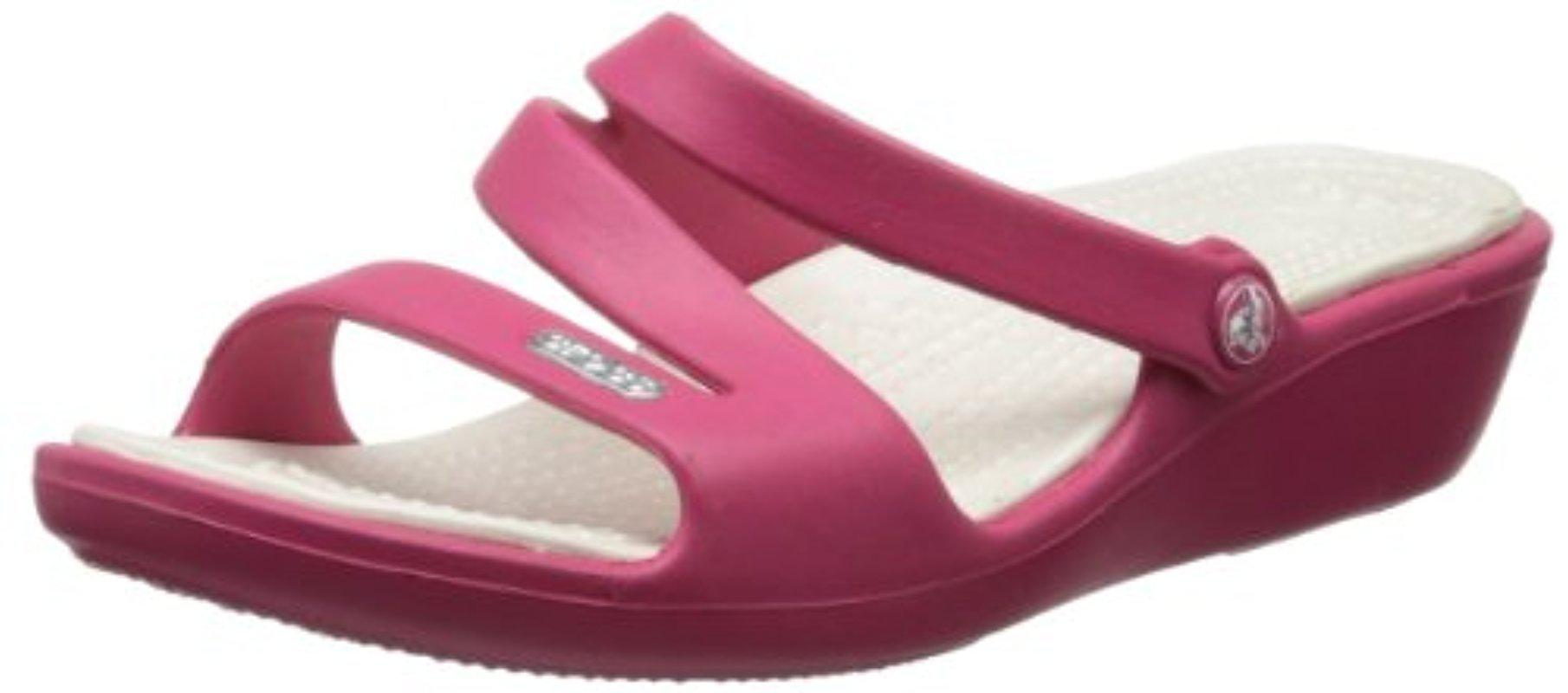 975911fc59ee1 Lyst - Crocs™ Patricia Sandal in Purple