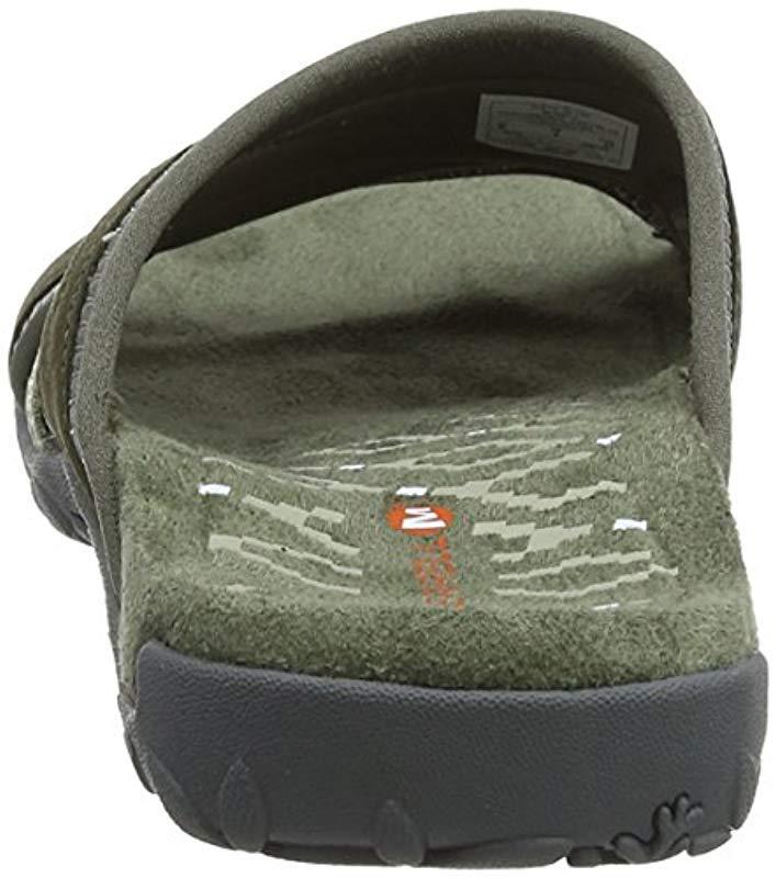 1b2d14a60419 Merrell - Green  s Terran Slide Ii Open Toe Sandals - Lyst. View fullscreen