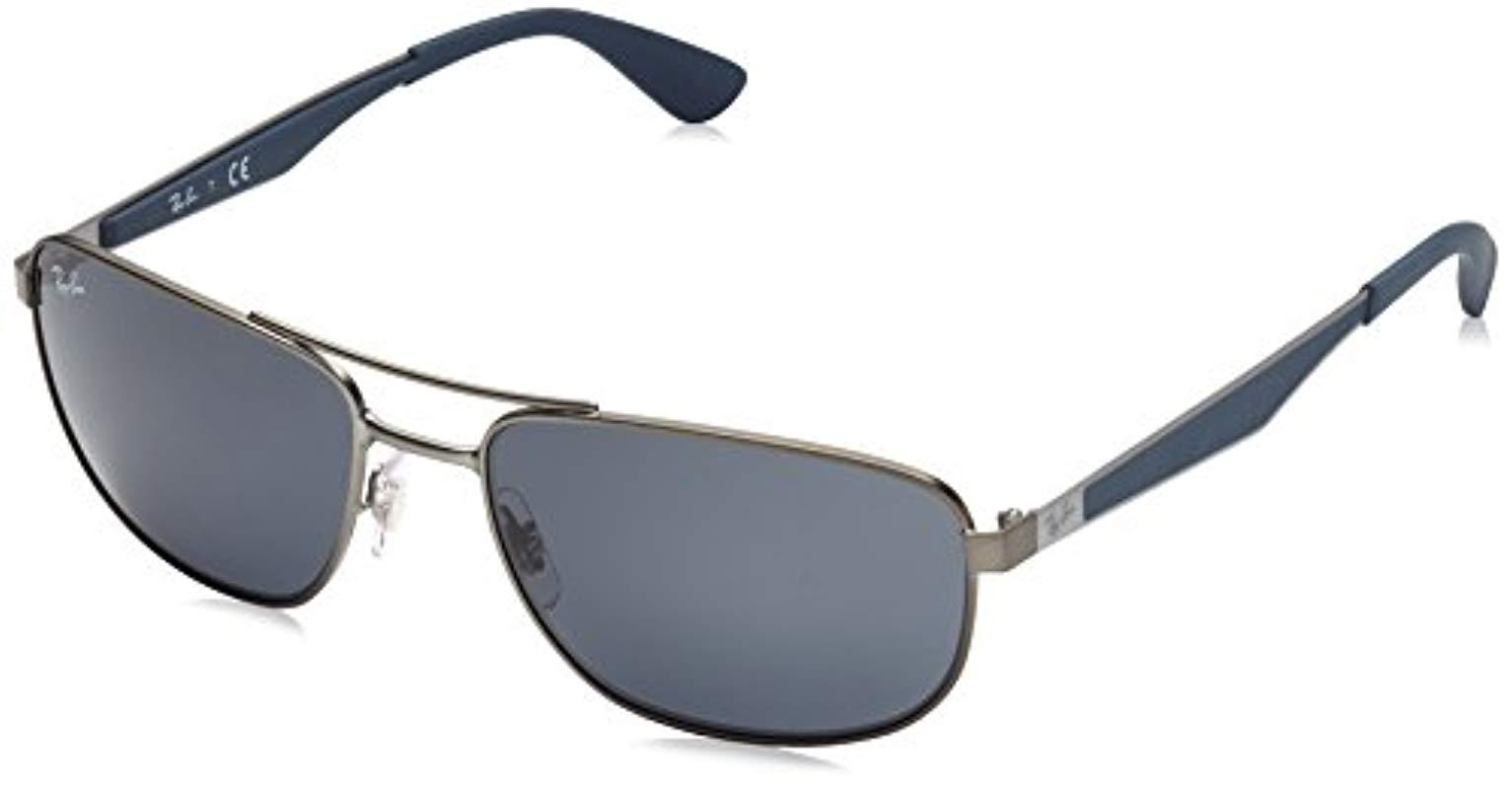 8a1e9f2d13 Ray-Ban. Men s Metal Sunglasses In Matte Black Polarised Rb3528 006 82 61