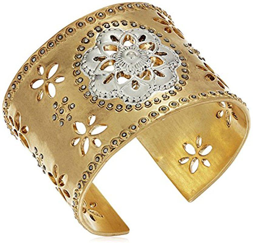 Lucky Brand Statement Cuff Bracelet (Gold) Bracelet CPA6tt