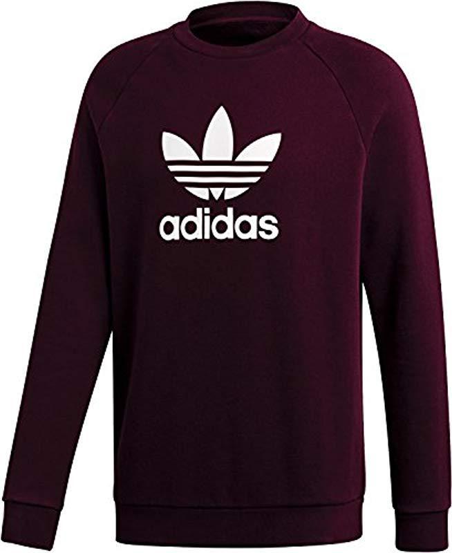 5db9228e0bb25 Adidas Trefoil Crew Sweatshirt in Purple for Men - Lyst