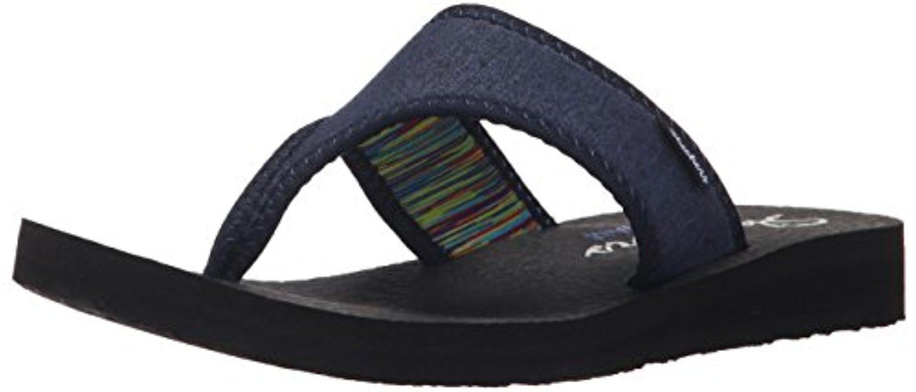 Skechers. Women's Blue Cali Meditation Zen Child Flip-flop