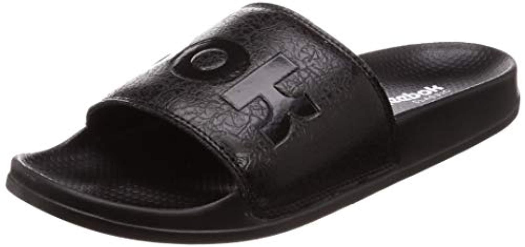 23848f1d8c54ab Reebok Unisex Adults Classic Slide Beach   Pool Shoes in Black for ...
