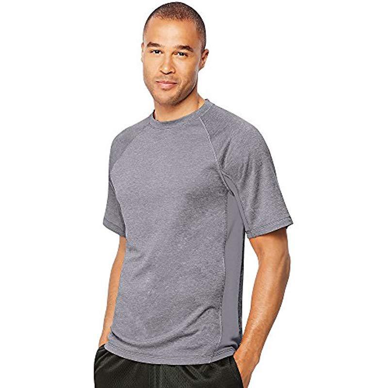 68ceb2e6c858 Lyst - Hanes Sport X-temp Performance Training T-shirt in Gray for ...