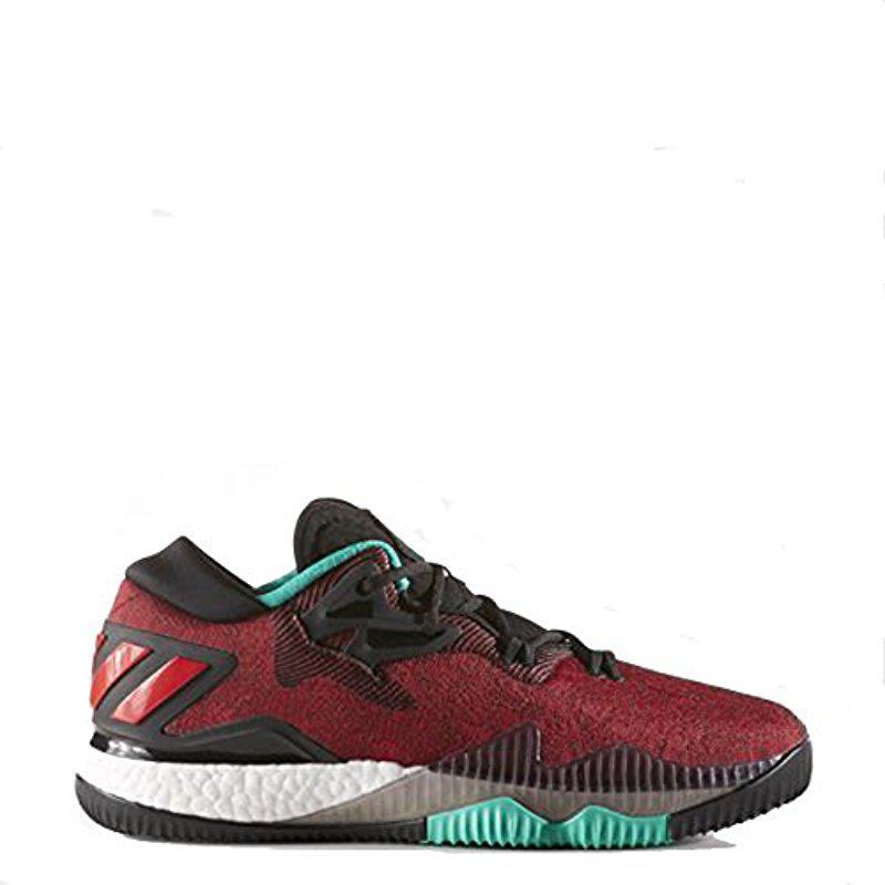 adidas Originals Mens Shoes  Crazylight Boost Low Basketball Black/White/Shock