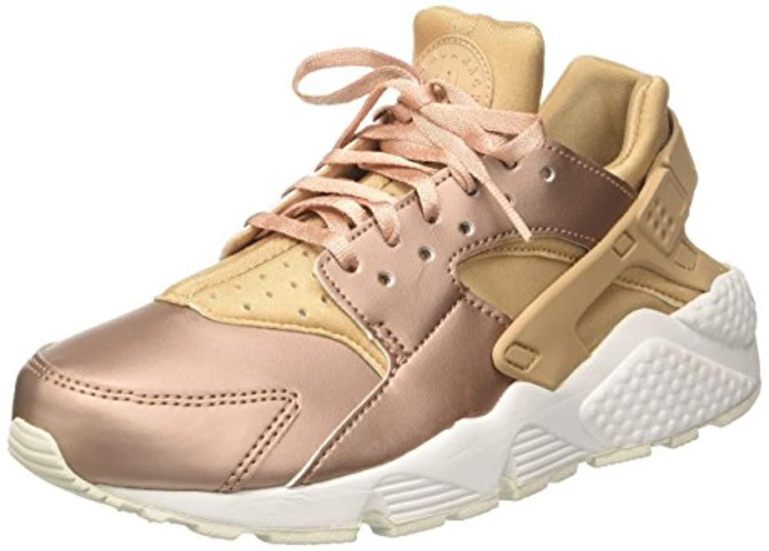new style 57208 4e84e Nike  s Air Huarache Run Prm Txt Gymnastics Shoes in Metallic - Lyst