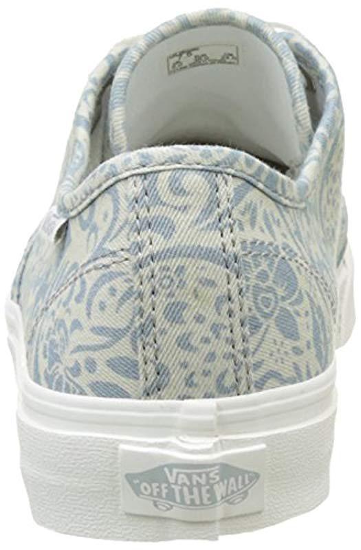 ab69ec94fc Vans - Blue Wm Camden Stripe Low-top Sneakers - Lyst. View fullscreen