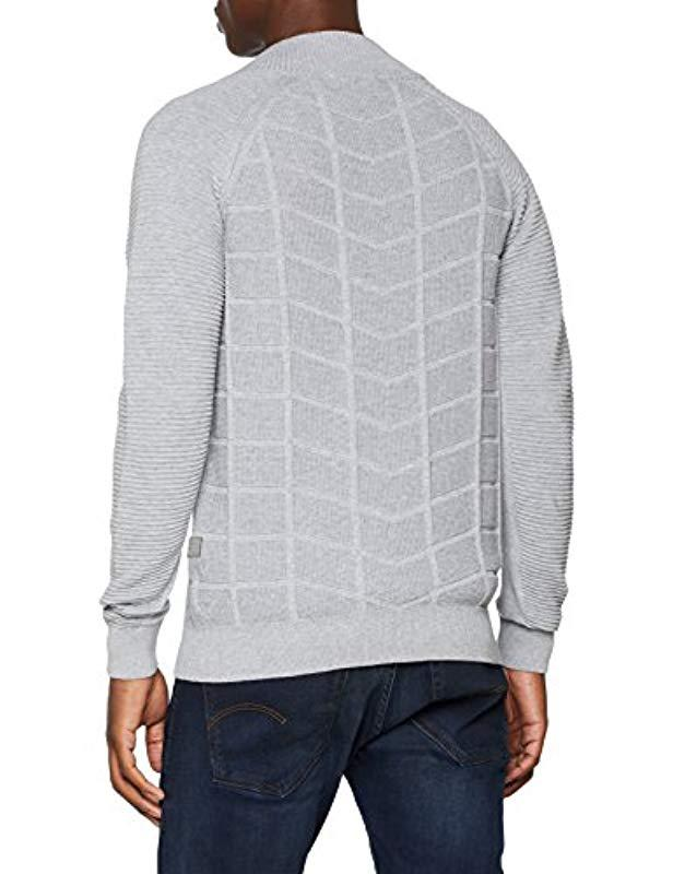 G-Star Raw Suzaki Moto Zip Through Knit L s Cardigan in Gray for Men - Lyst 61d55937fd68
