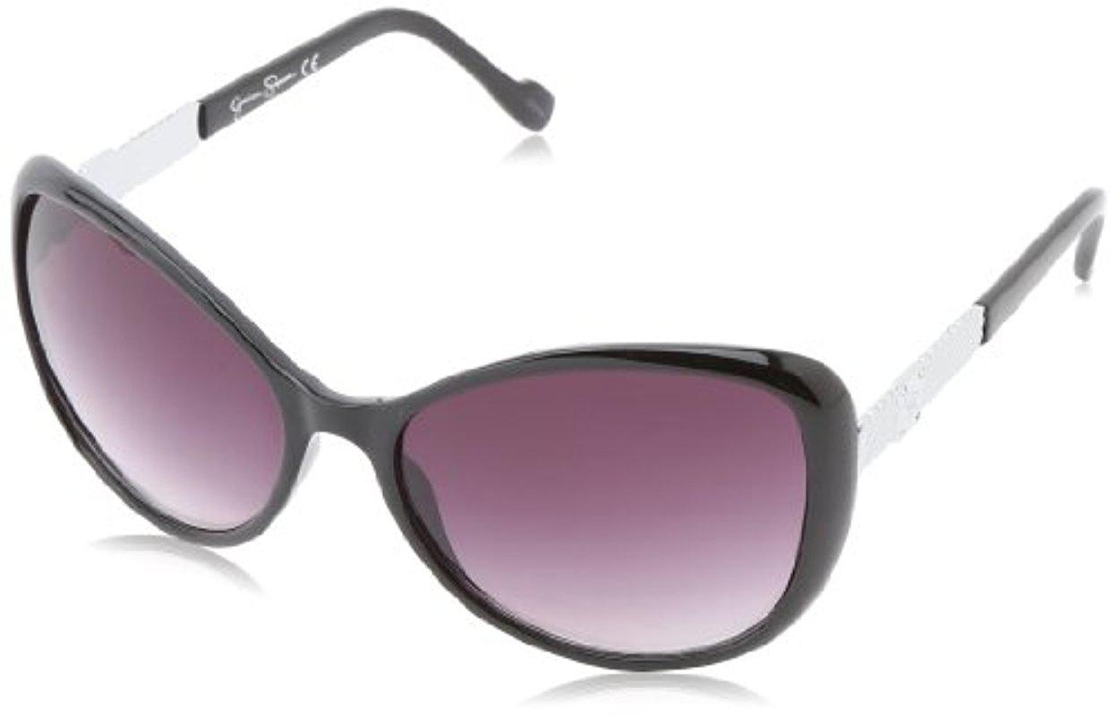 b795f594bd Lyst - Sam Edelman Jessica Simpson J5077 Ox Cat Eye Sunglasses in Black