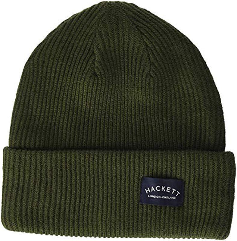 2d237378ba1 Hackett Mc Knit Beanie in Green for Men - Save 28% - Lyst