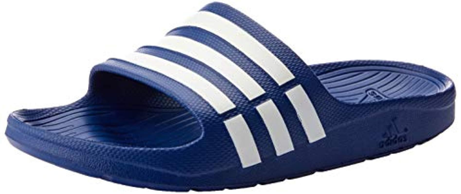 2942e3bc9c5936 adidas Adults  Duramo Slide Beach   Pool Shoes in Blue for Men ...