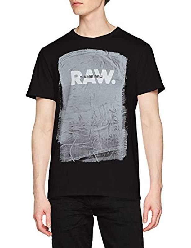6df75806eb1 G-Star RAW T-shirt in Black for Men - Save 17% - Lyst