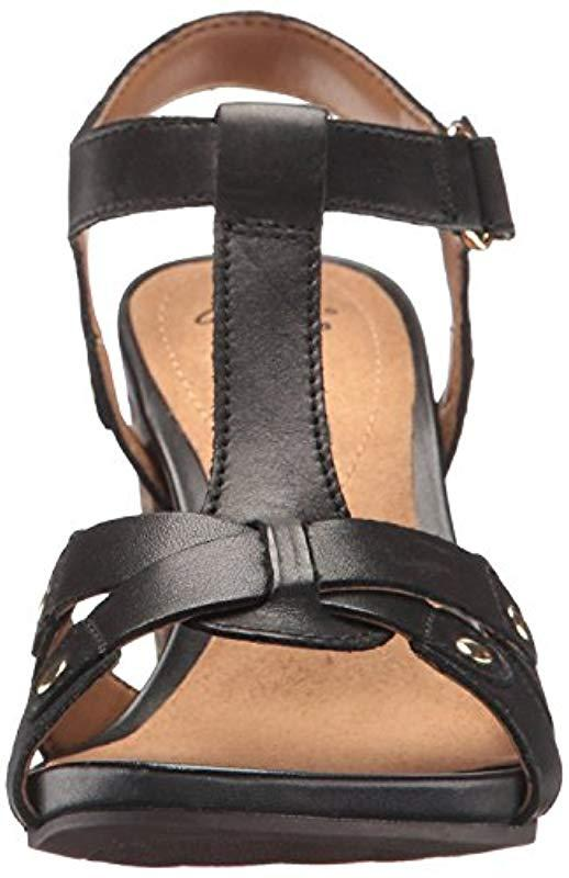 6962b09a048e Lyst - Clarks Banoy Valtina T-strap Sandal in Black - Save 36%