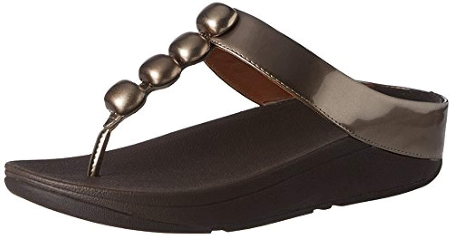 a8fbe44d883e01 Fitflop Rola Platform Sandals in Brown - Lyst