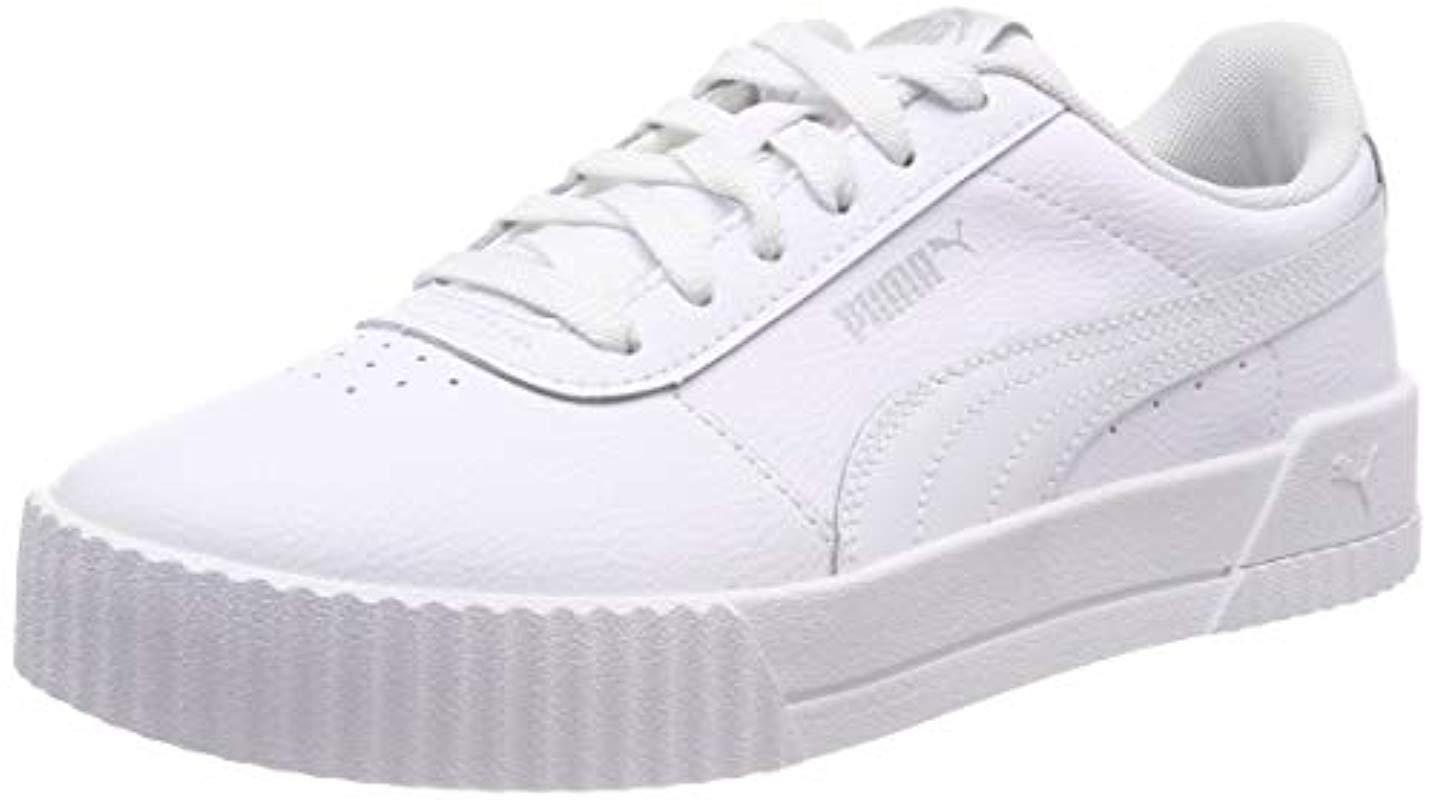 7d2dfe67abd PUMA Carina L Low-top Sneakers in White - Lyst
