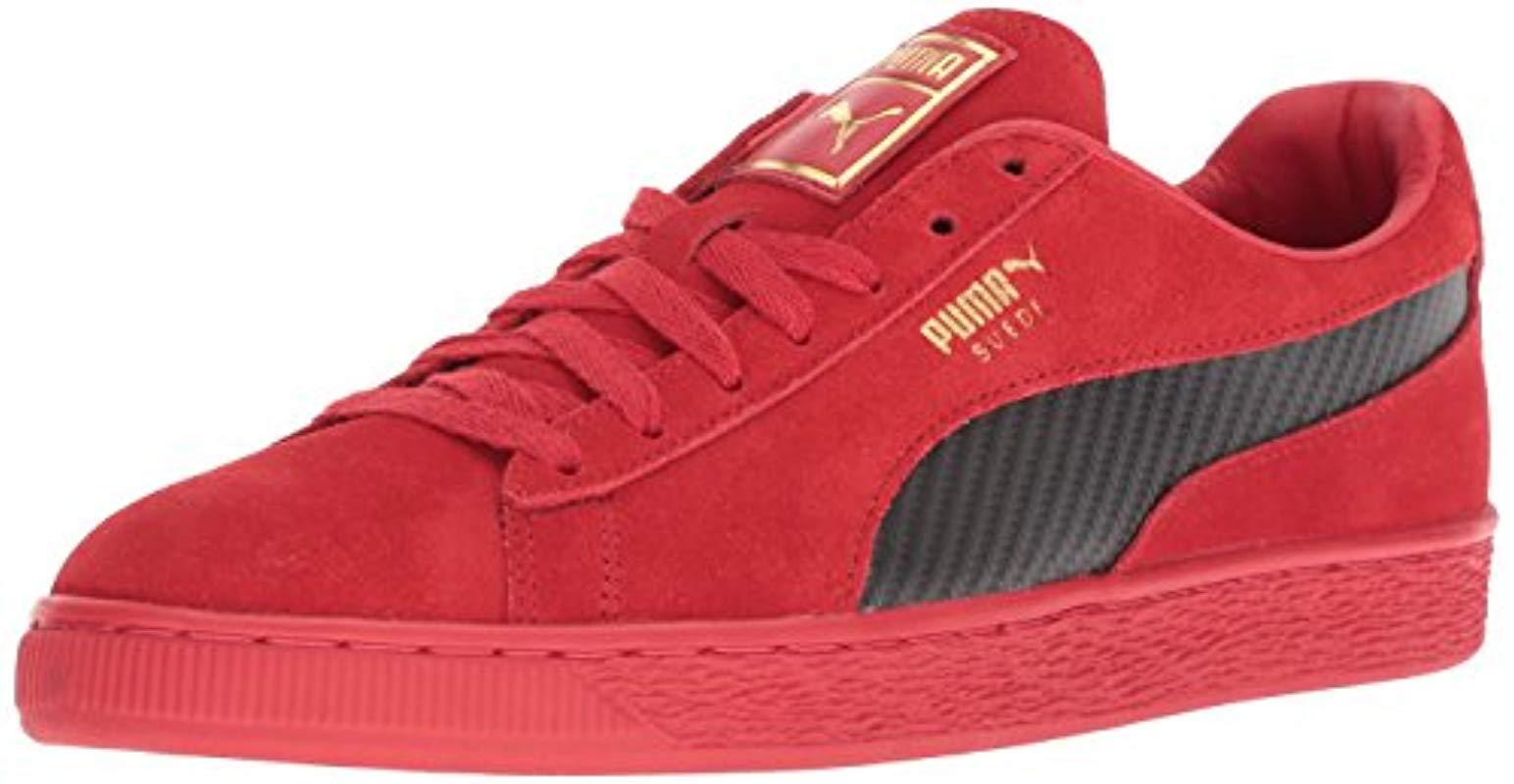 096af997f3 PUMA Ferrari Suede 50 Sneaker in Red for Men - Lyst